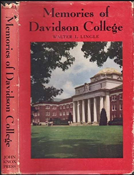book cover of Memories of Davidson College