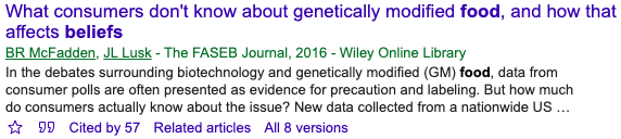 """Example of """"Cited by"""" Link in GoogleScholar."""