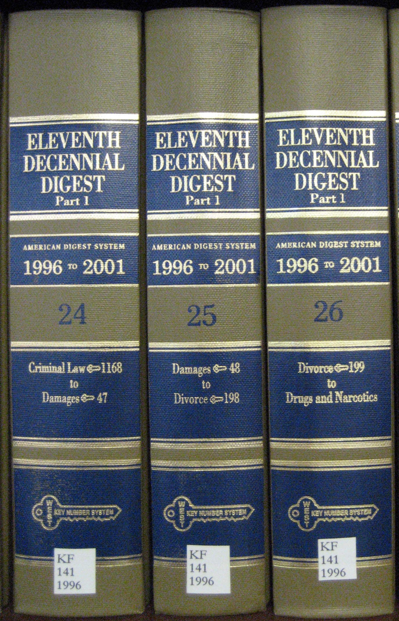 Eleventh Decennial Digest books