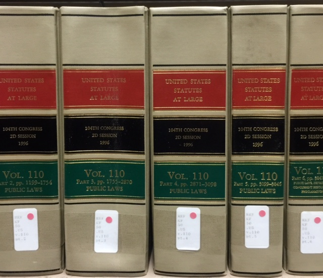 United States Statutes at Large books