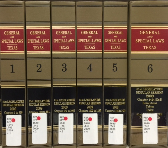 General and Special Laws of Texas books