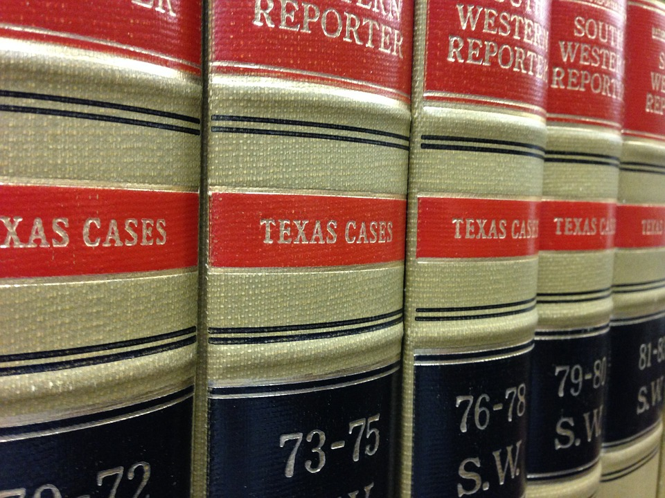 South Western Reporter books on a shelf in a library