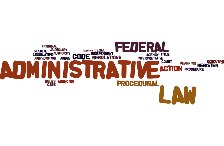 Federal administrative law wordle image
