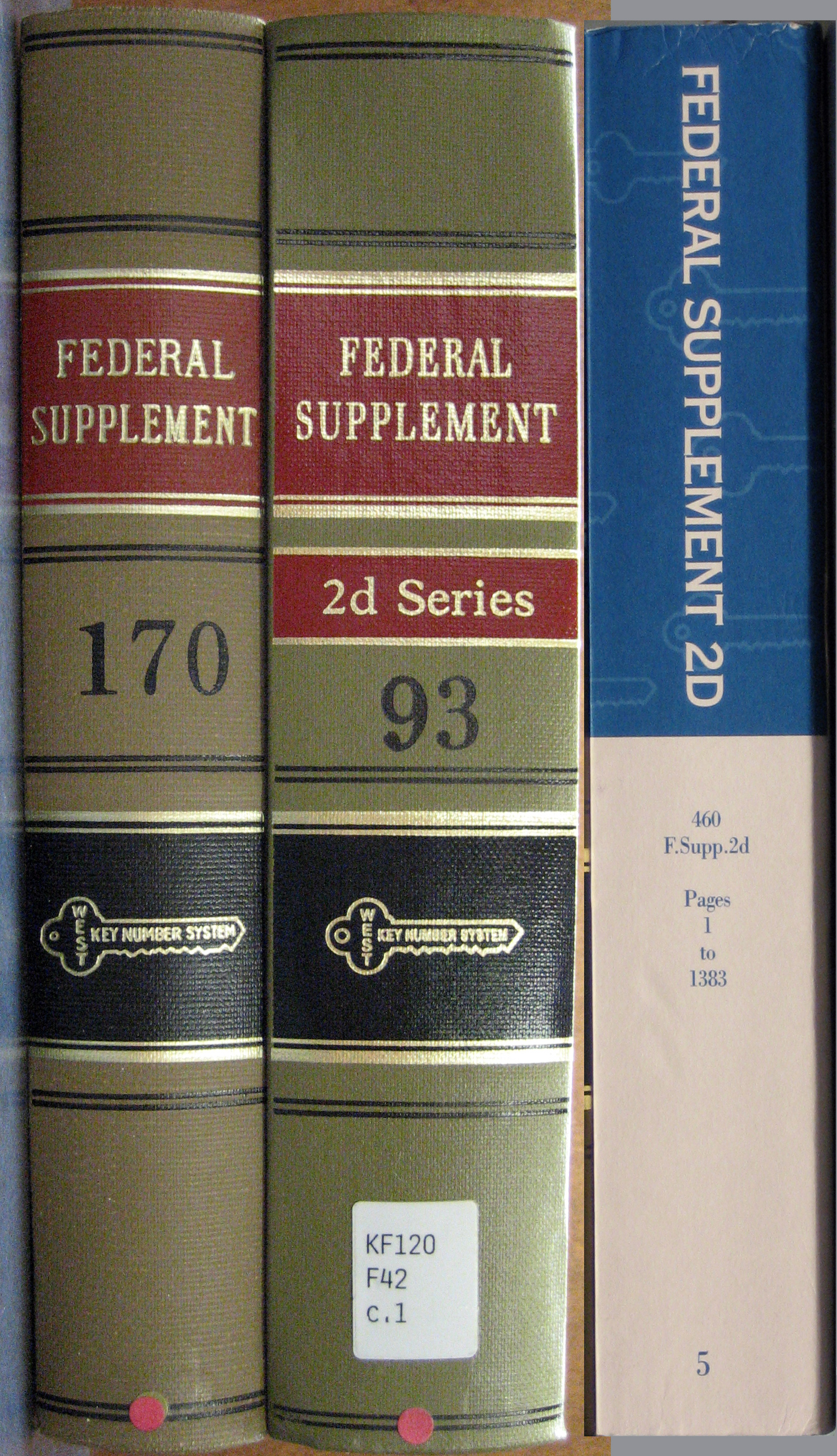 Federal Supplement books