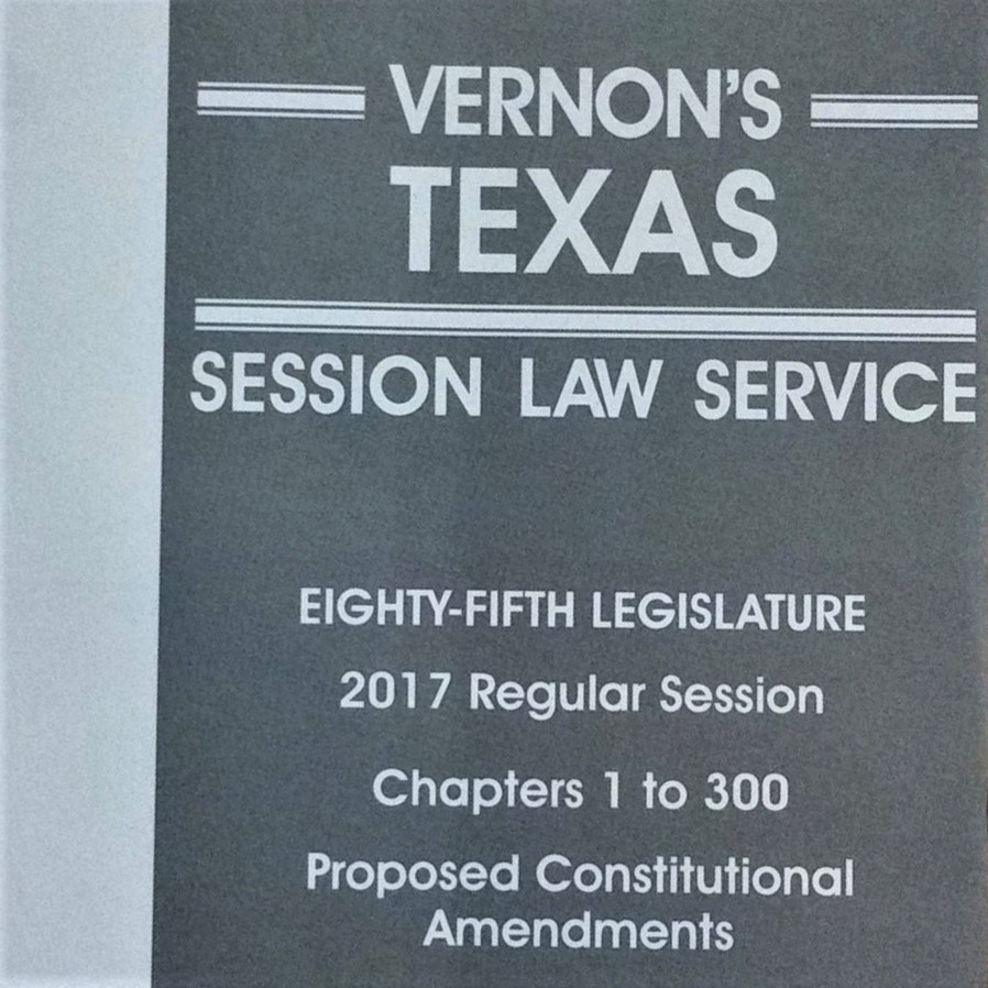Vernon's Session Law Service book