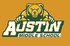 Austin Middle School bear and logo