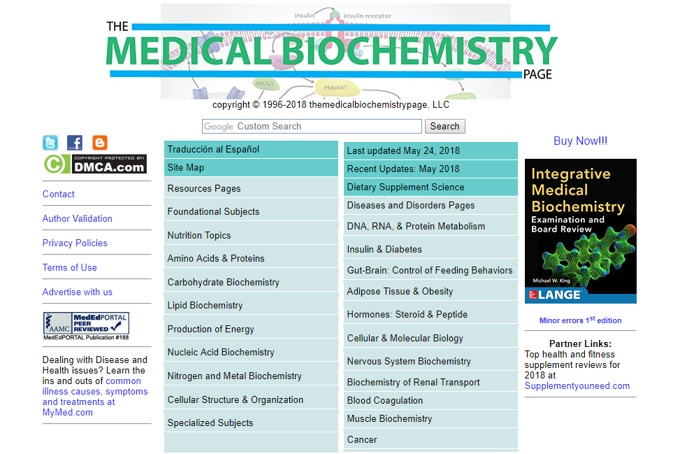 The Medical Biochemistry Homepage