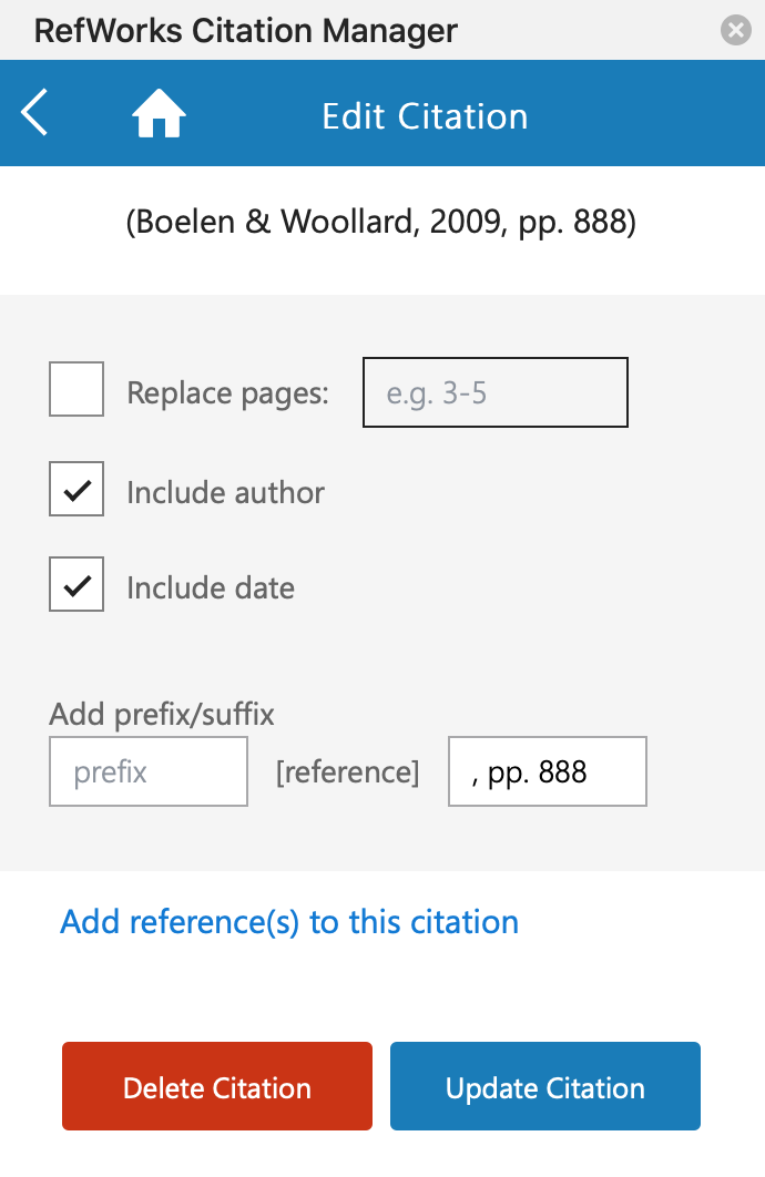 RCM Edit Citation Page