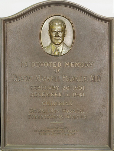 Plaque dedicated to Dr. Franklin