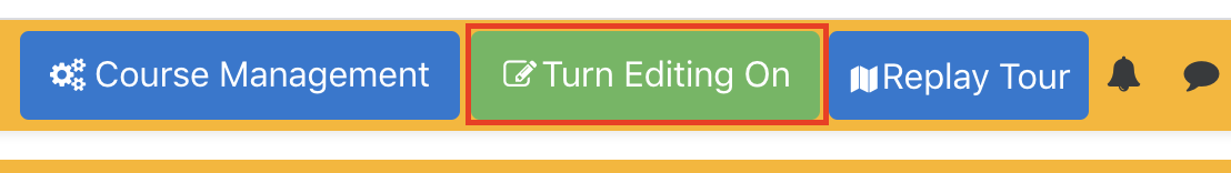Screen shot showing the Turn Editing On button