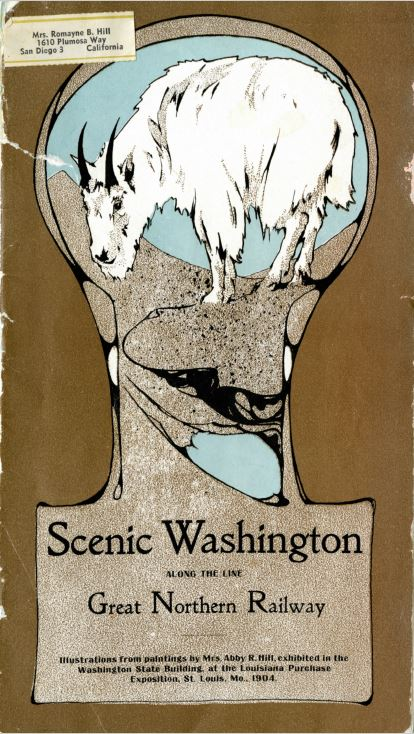 Front cover of pamphlet picturing a mountain goat.