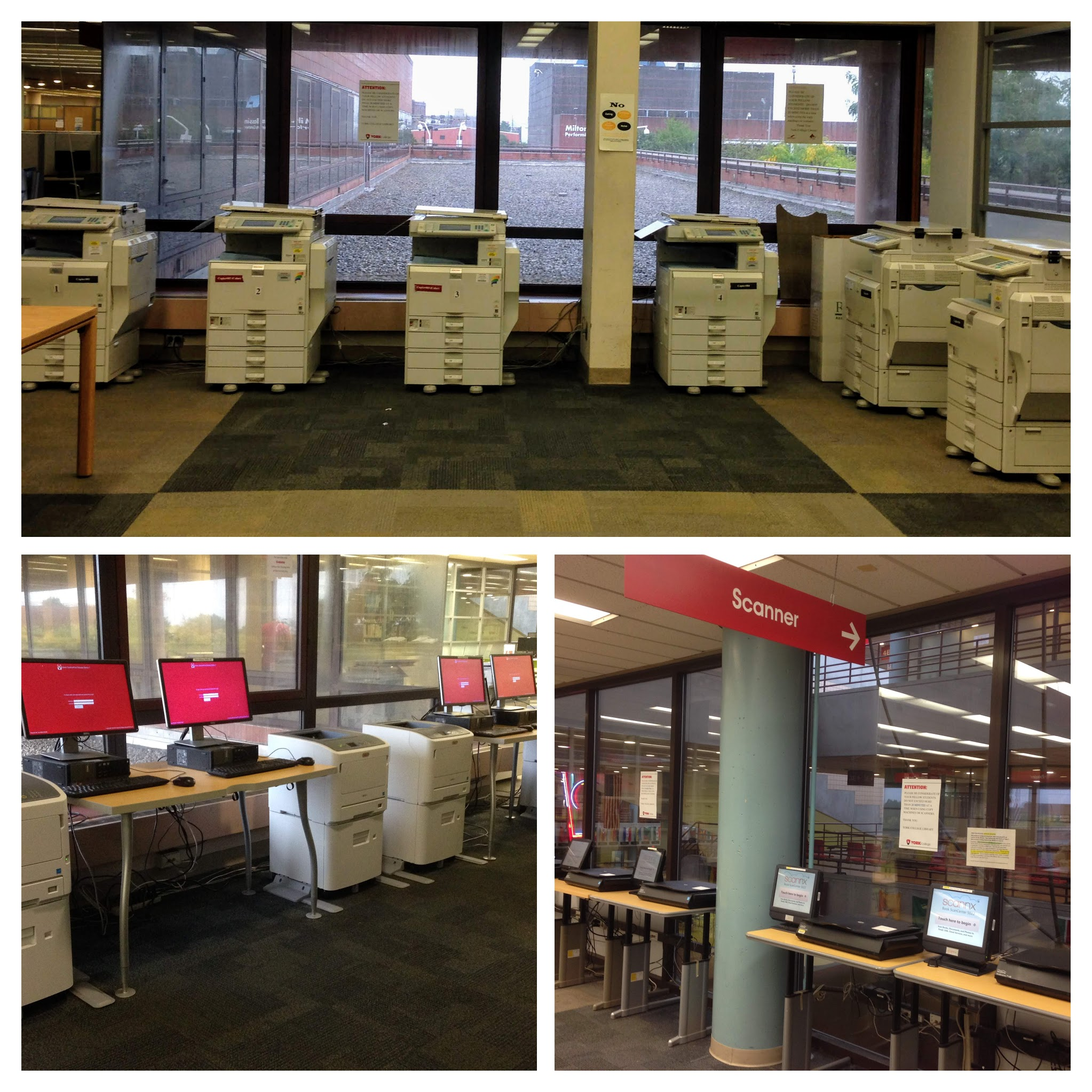 copiers printers scanners york college library