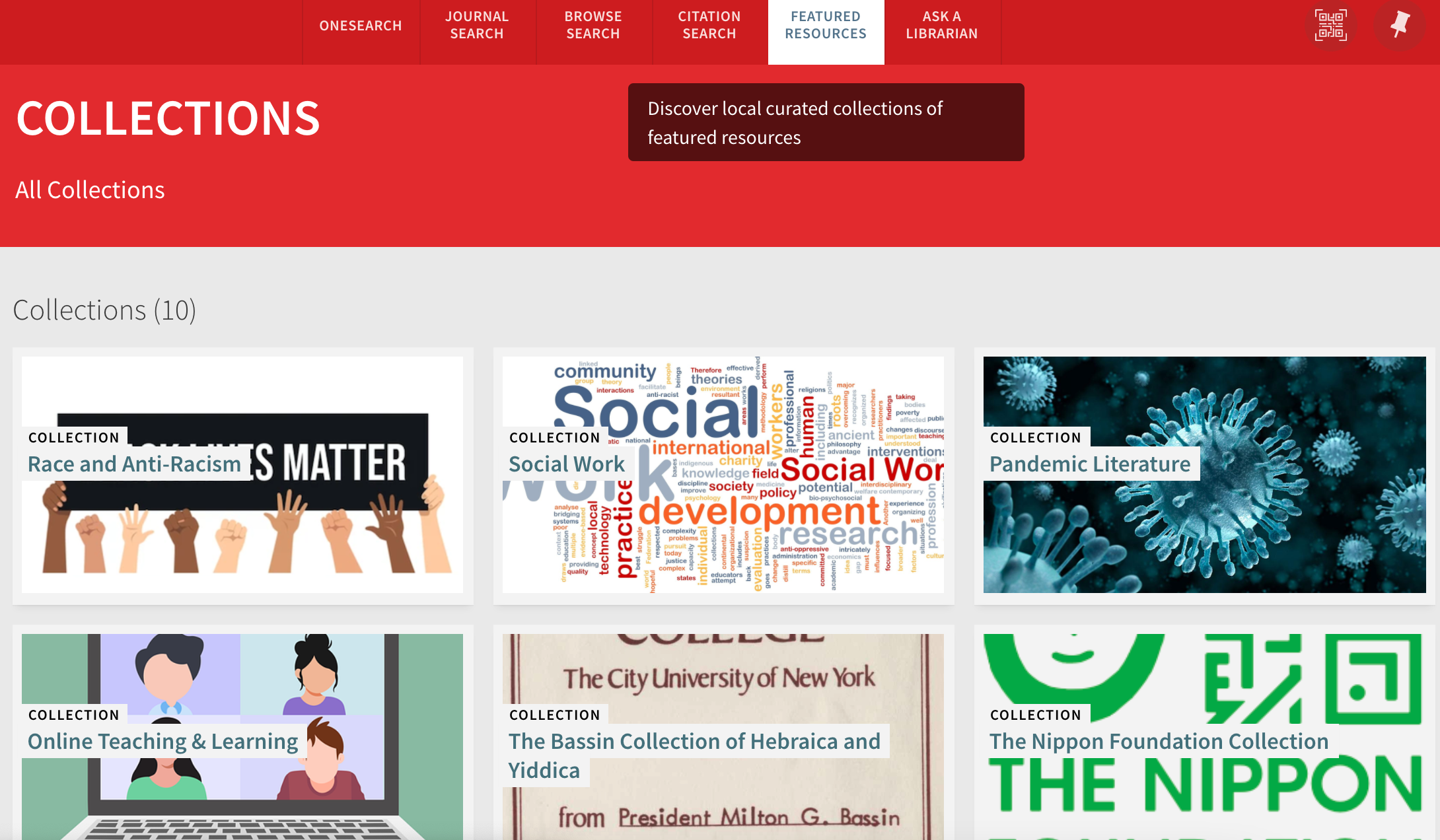 york library featured resourcs collections social work