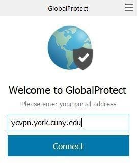 screenshot welcome to global protect portal login page