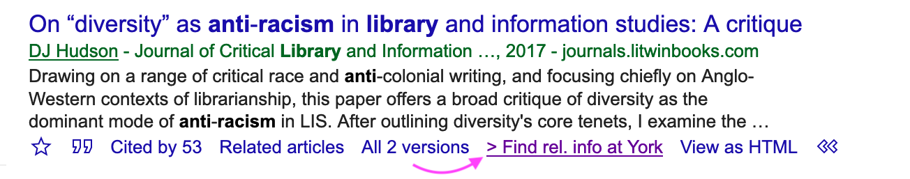 search result google scholar