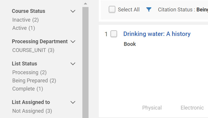 screenshot metadata record for drinking water a history book