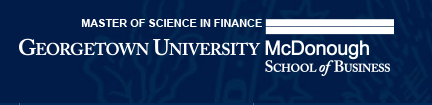 Georgetown Univeristy McDonough School of Business Master's in Finance