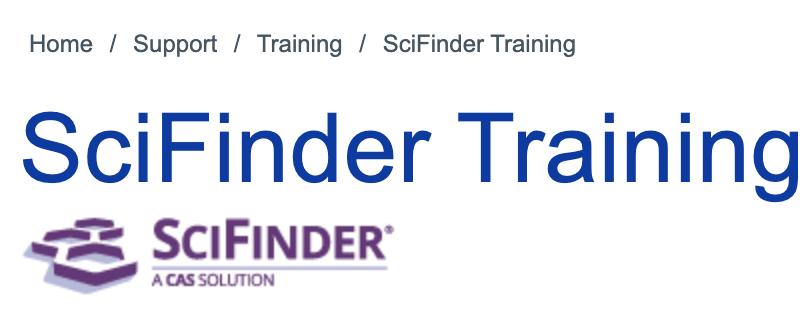SciFinder Training