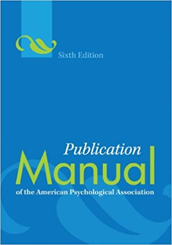 Cover of Publication Manual of the American Psychological Association