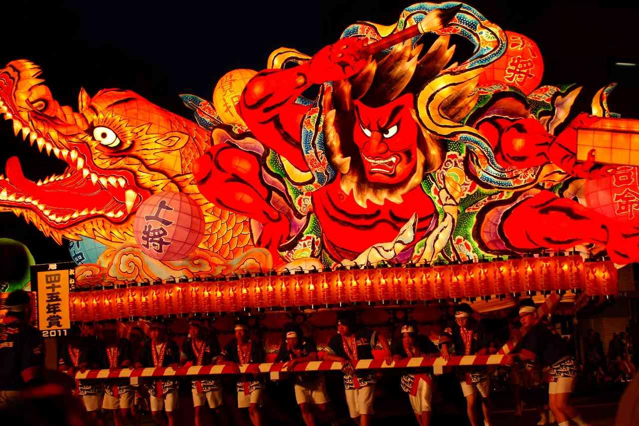 a float from Nebuta festival in Aomori
