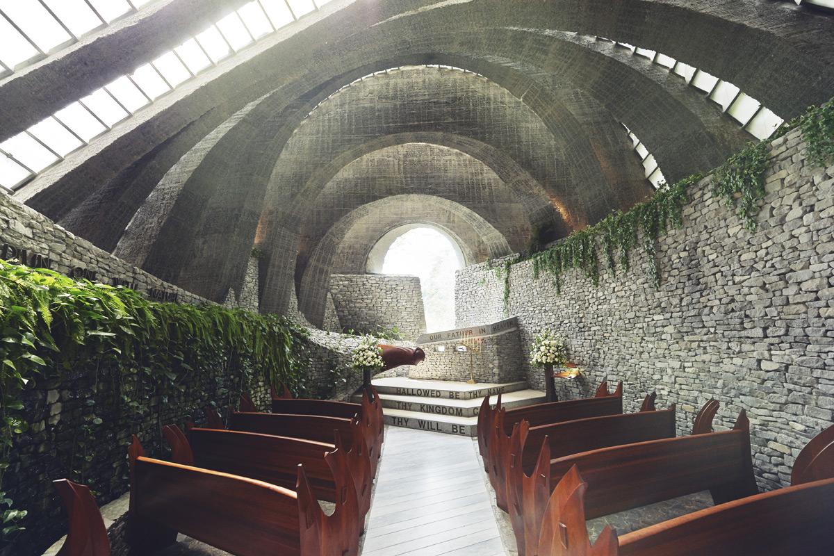 A church made of stone in Karuizawa