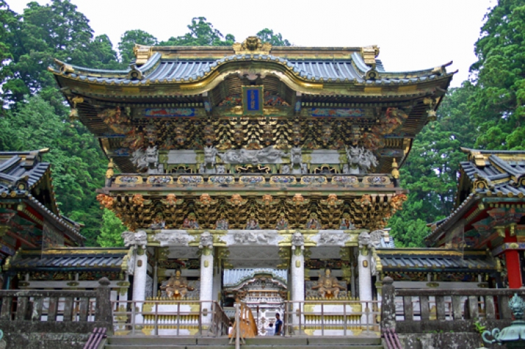 Japanese shrine in Nikko, Tochigi prefecture