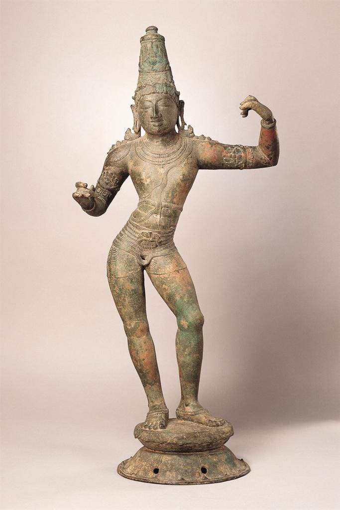 Copper statuette of the Hindu god Rama.