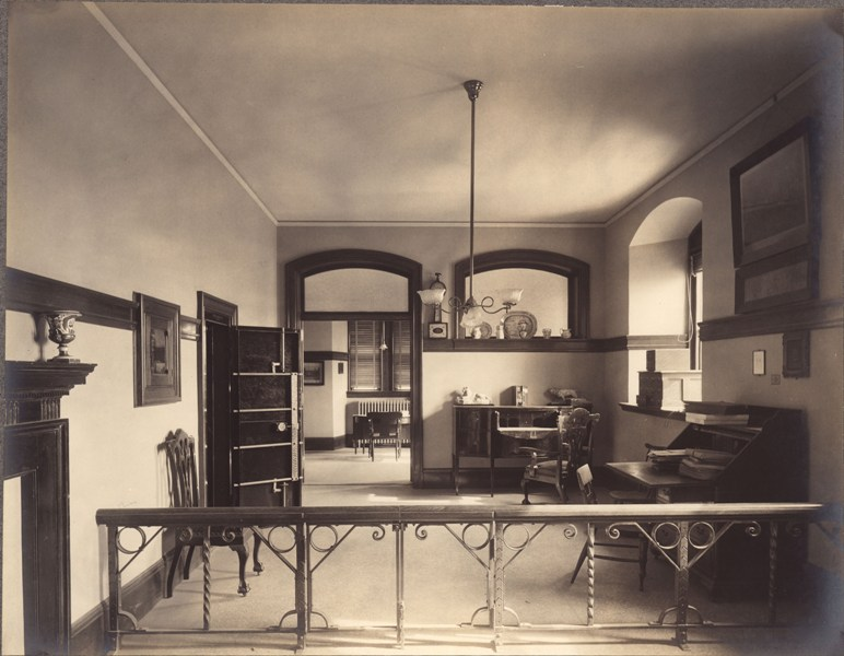 Archives in Healy Hall basement ca 1908