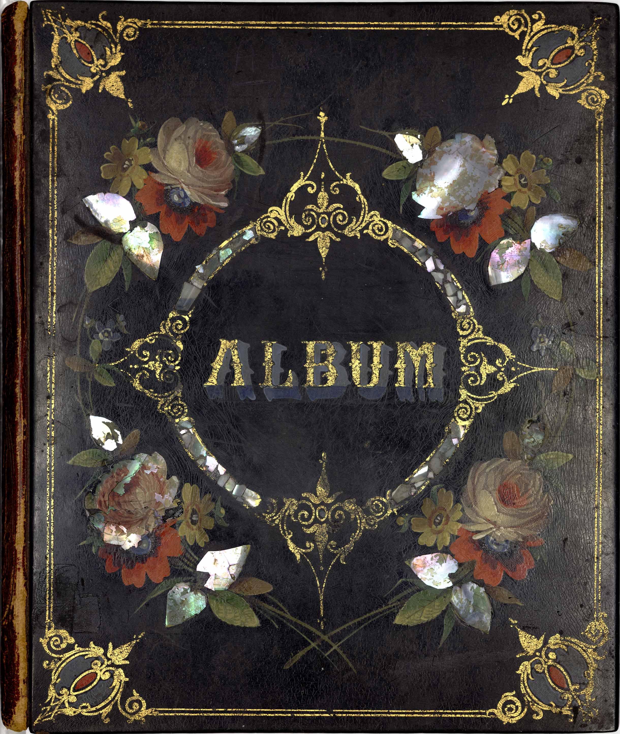 Cherished Memories scrapbook ornate cover