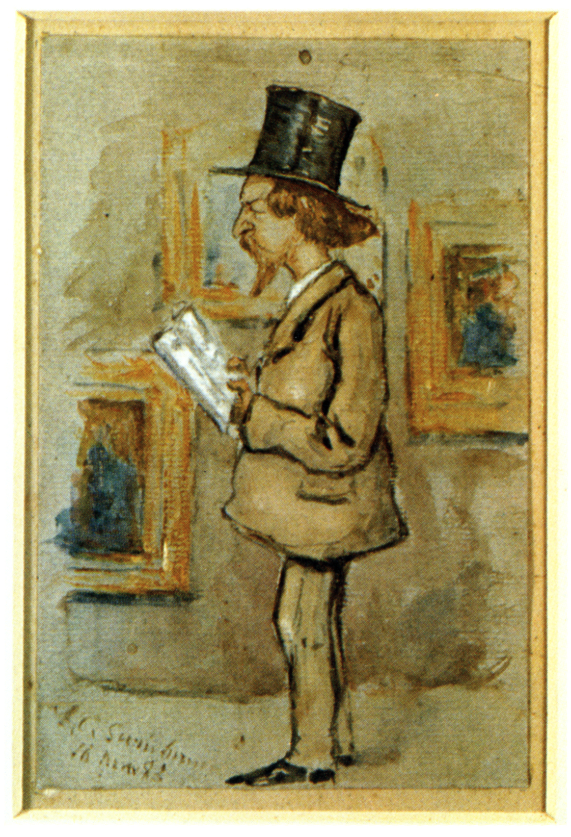 Painting of Algernon Charles Swinburne by Halkett