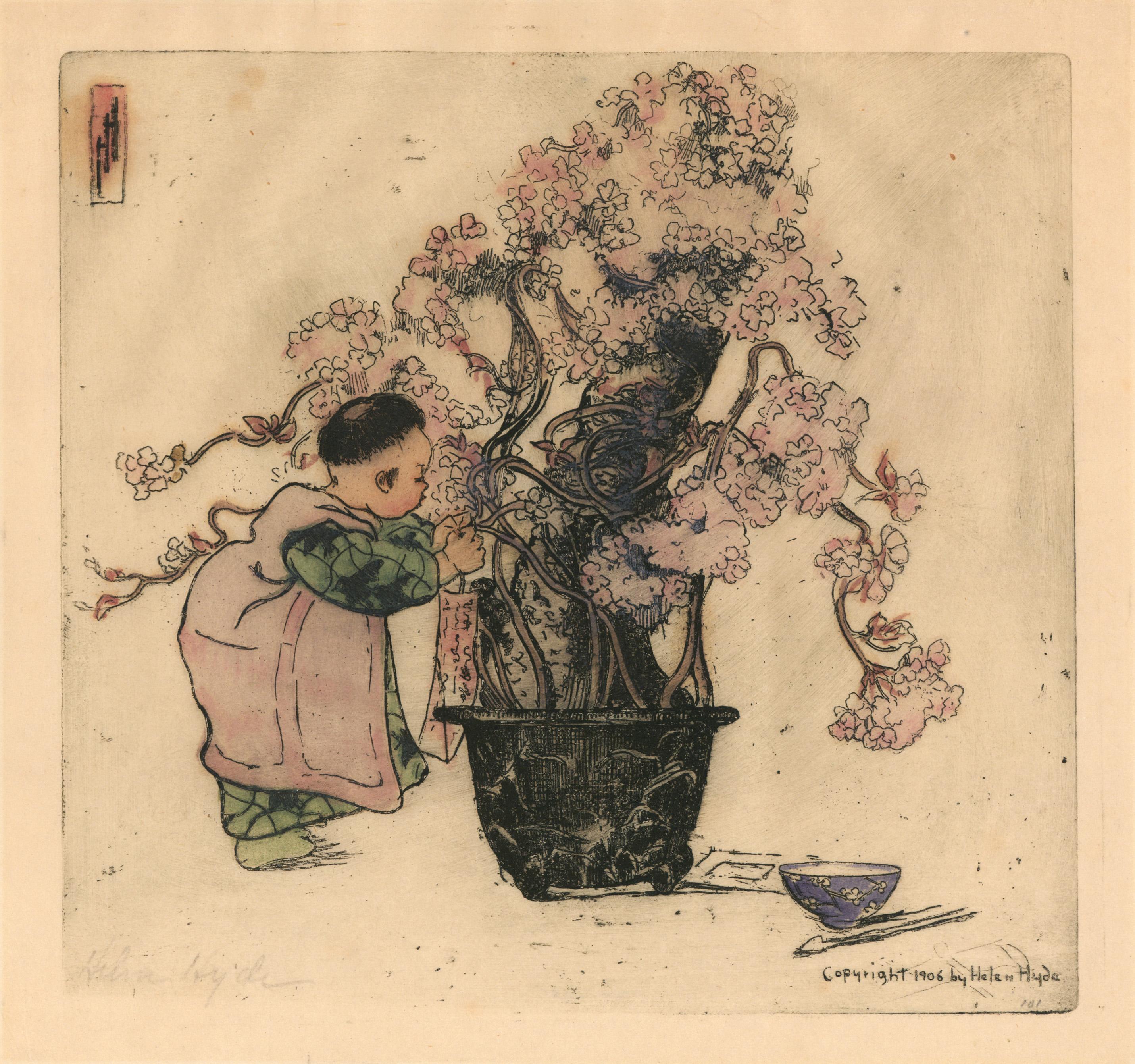 Spring Poem by Helen Hyde 1906
