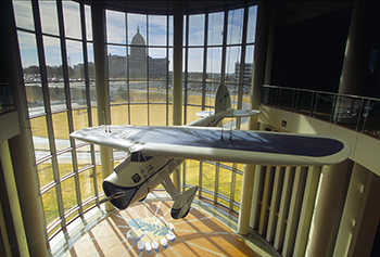 Replica of the special Lockheed airplane Wiley Post flew.