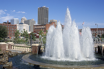 Centennial Fountain, at United Way Plaza, Sept. 2004