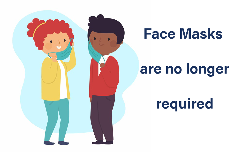 Face Masks no longer required