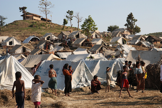 Rohingya Camp in Myanmar
