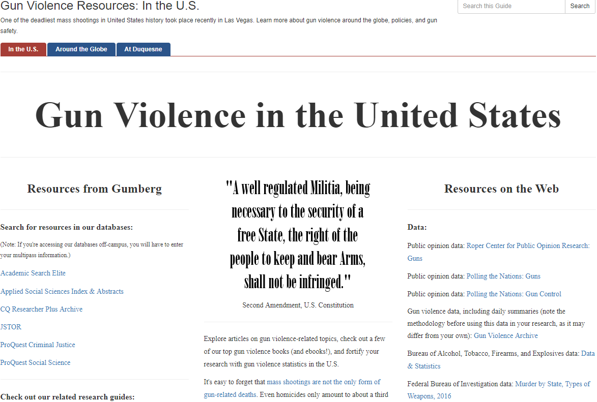 Gun Violence Guide Screenshot