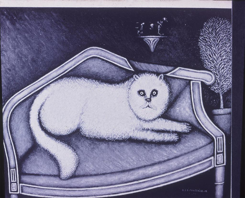 Angora Cat painting by Morris Hirschfield