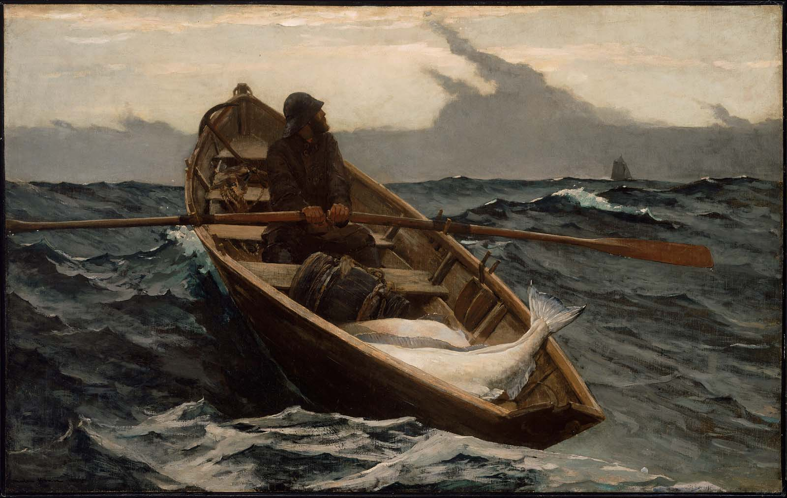 Winslow Homer's painting 'The Fog Warning' from the Museum of Fine Arts, Boston