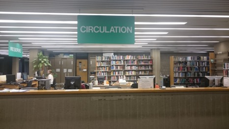 Picture of the Circulation Desk in the Library