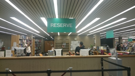 Amateur photo of reserve desk