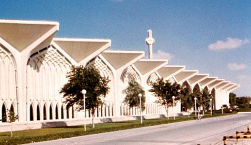 Terminal building at Dhahran International Airport, Dhahran, Saudi Arabia.