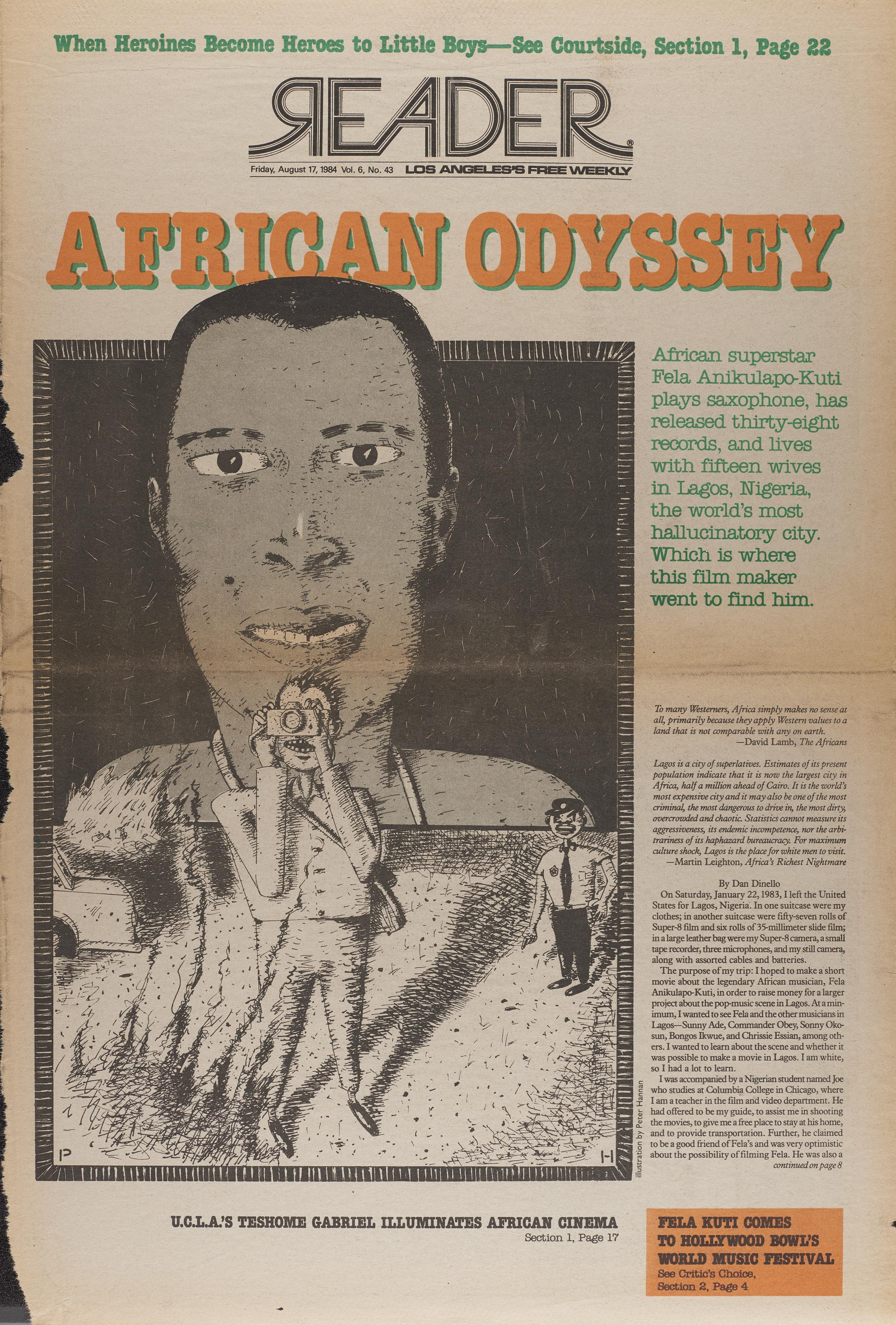Fela Kuti magazine cover