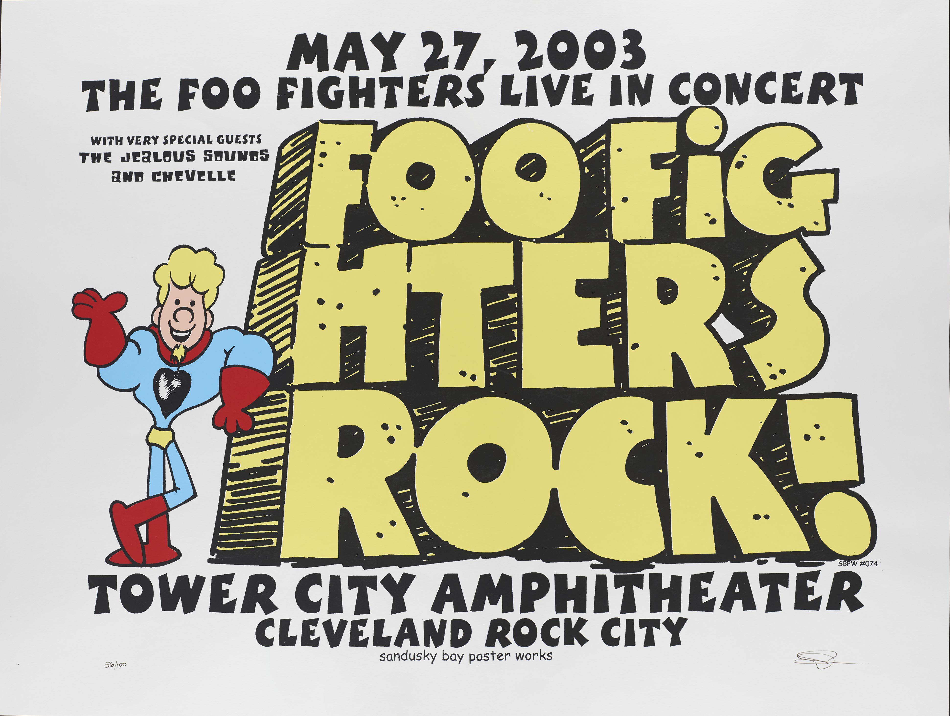 Foo Fighters poster, 2003