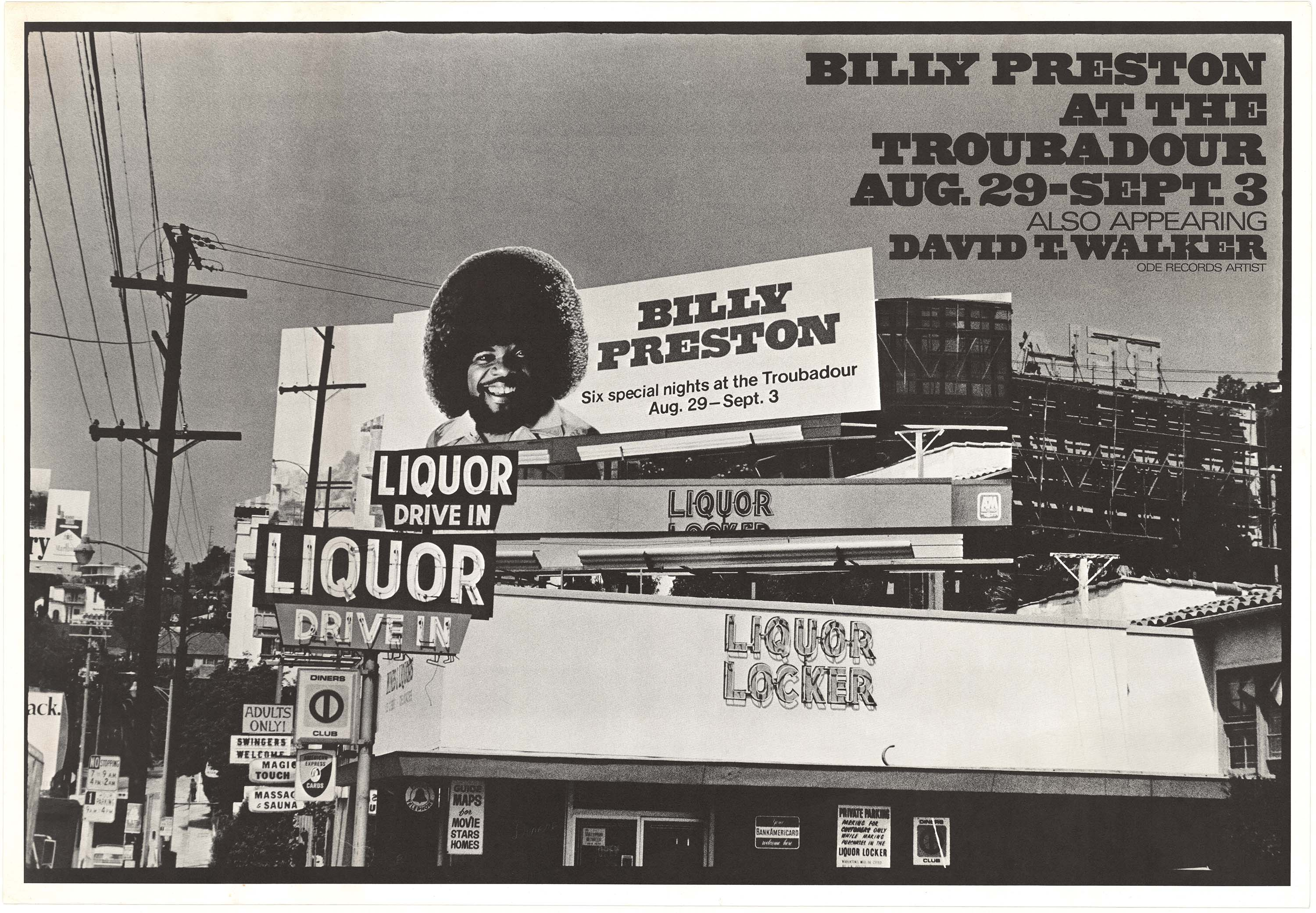 Billy Preston at the Troubadour poster