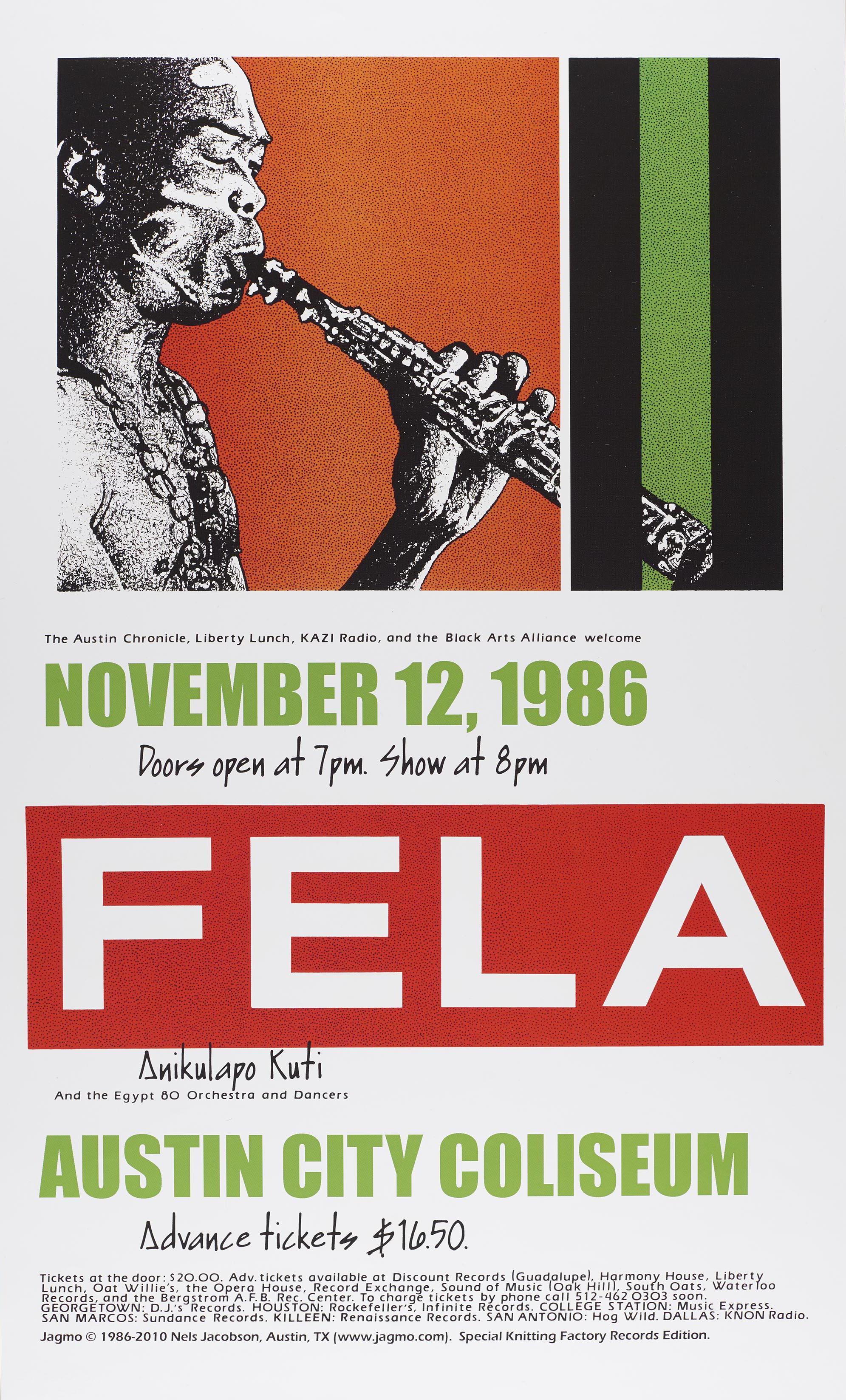 Fela Kuti poster, 1986