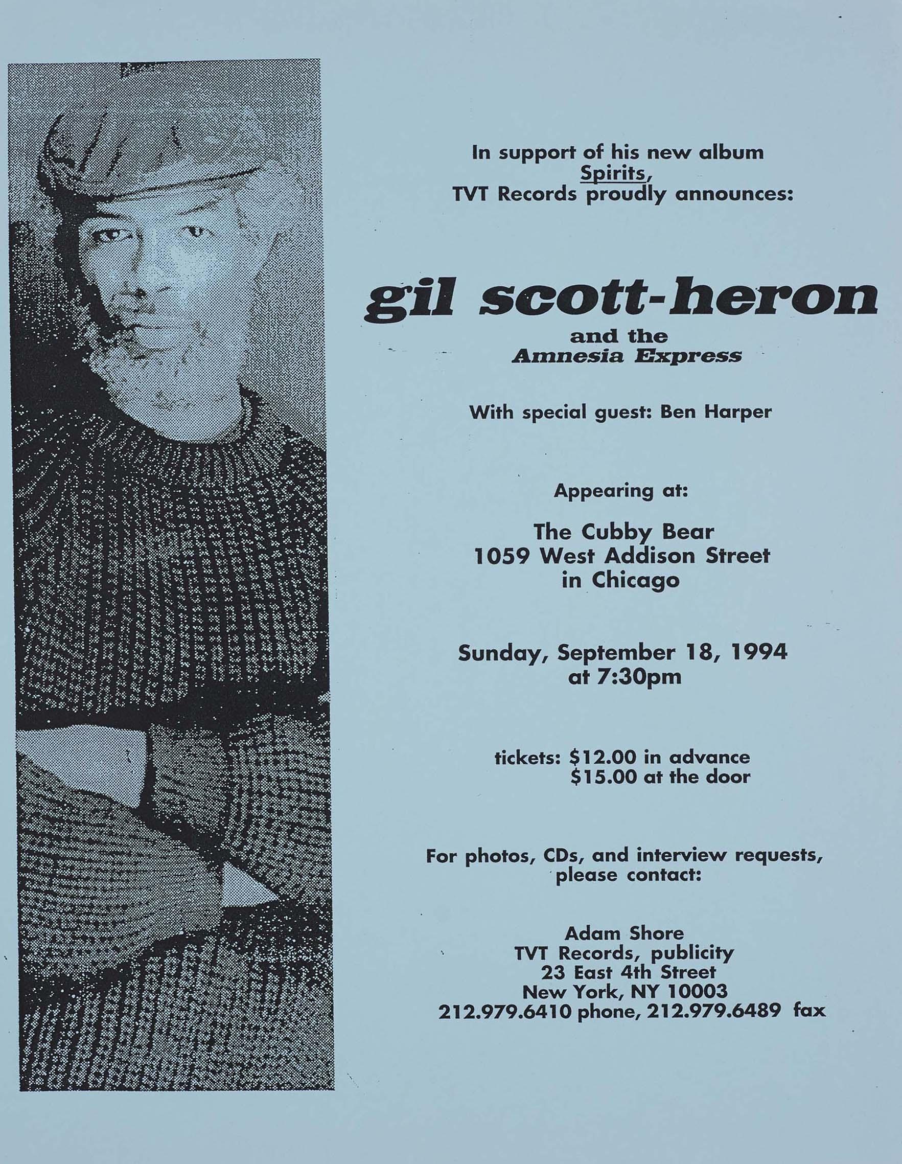Gil Scott-Heron advertisement