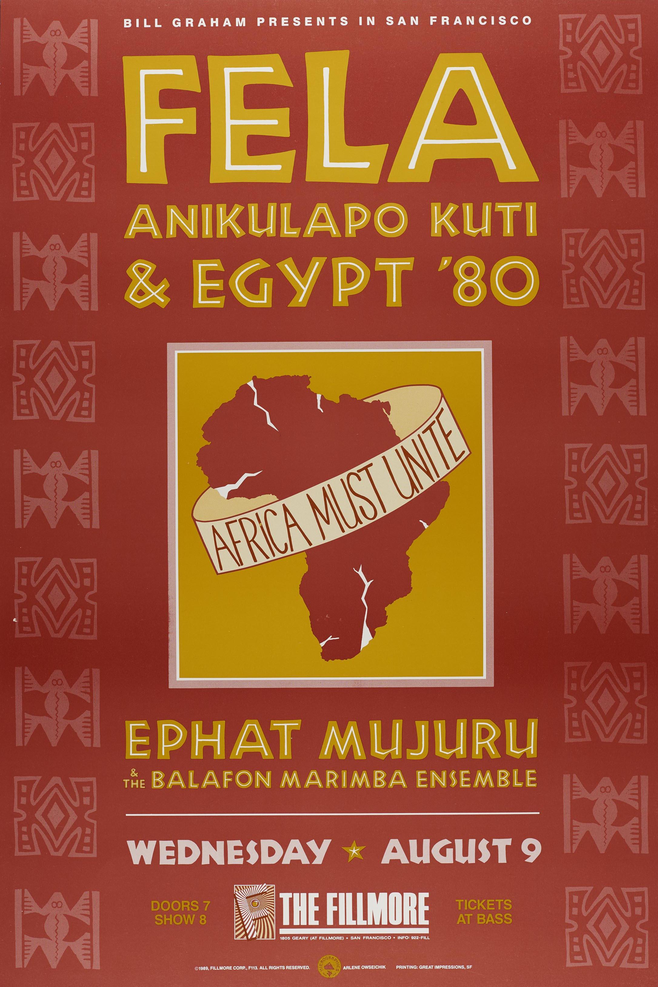 Felat Kuti poster, 1989