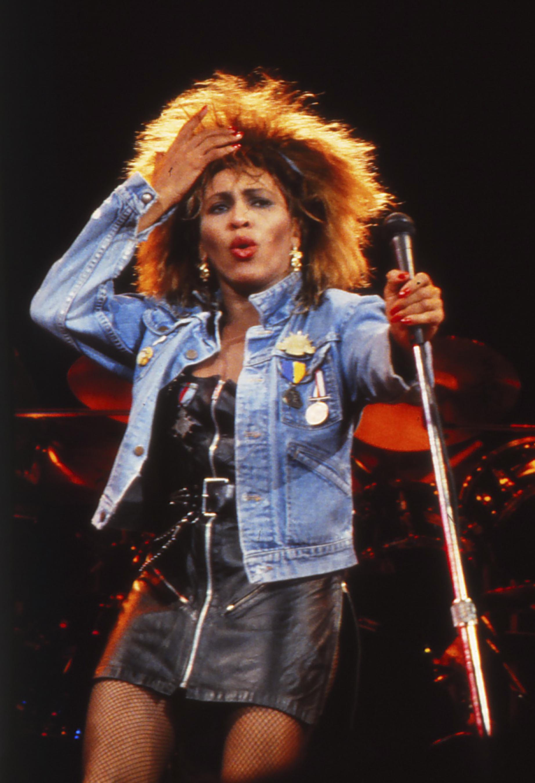 Tina Turner performance photo color