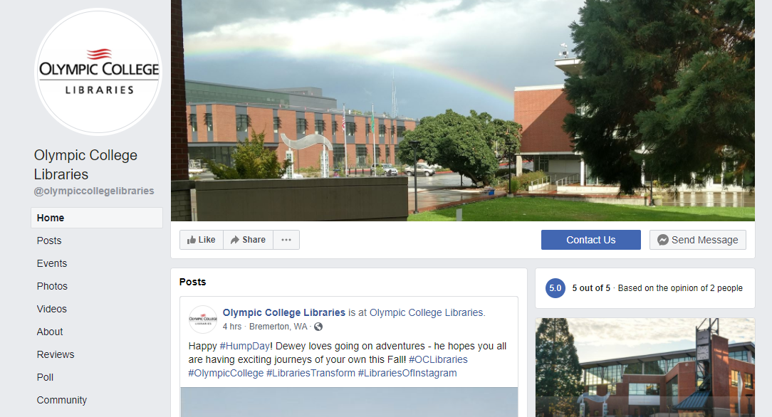 Image of the OC Libraries Facebook page