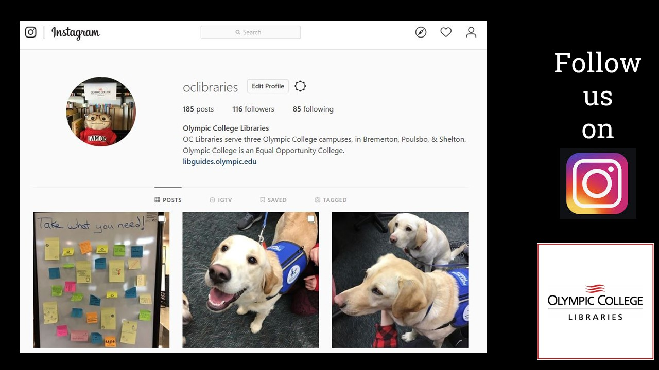OC Libraries Instagram page